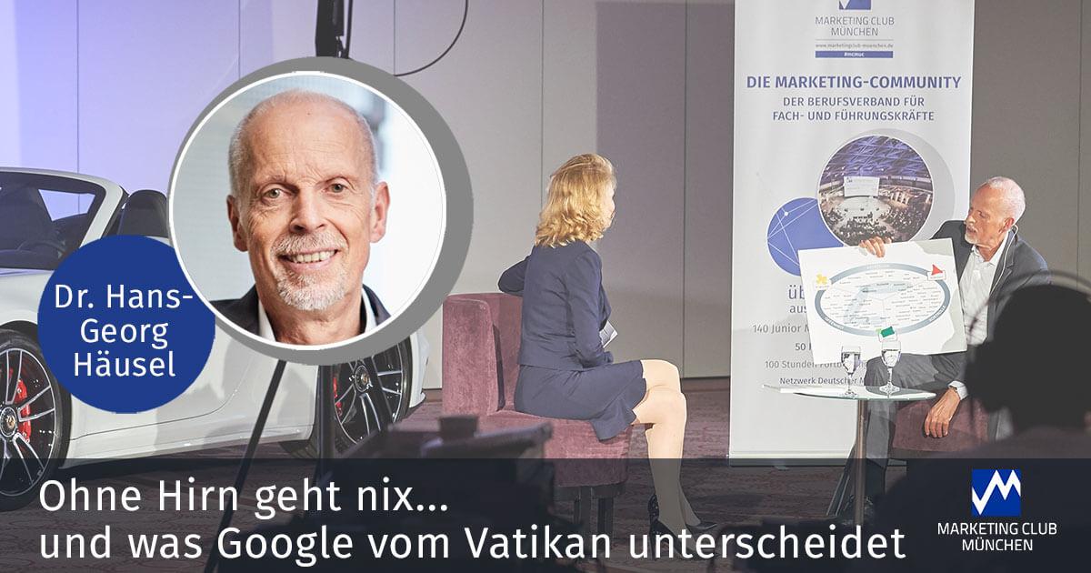 Ohne Hirn geht nix… und was Google vom Vatikan unterscheidet